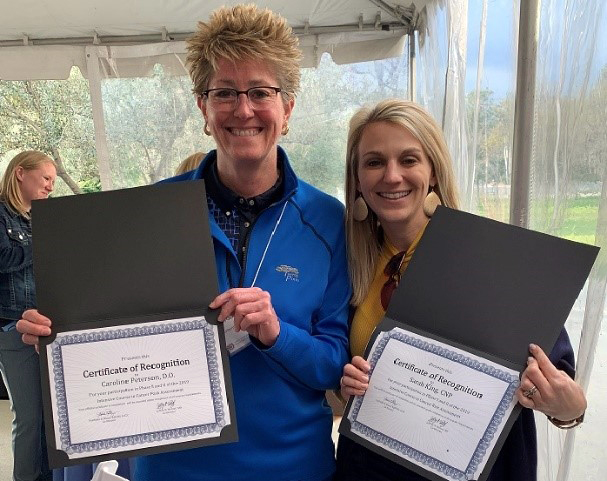 Caroline Peterson, DO, and Sarah King, WHNCP-BC, Become Certified City of Hope Providers