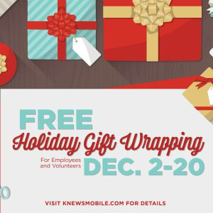 Free Holiday Gift Wrapping Available for Employees and Volunteers